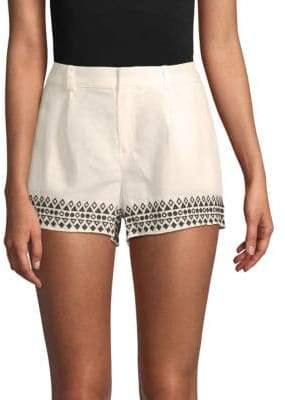 Parker Geometric-Embroidered Shorts