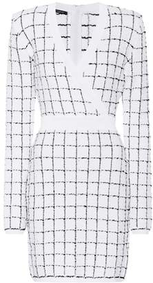 Balmain Checked tweed dress