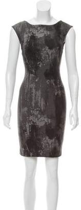 L'Agence Printed Sleeveless Dress