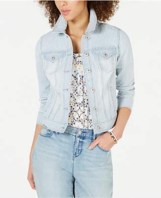 Style&Co. Style & Co. Stripe Denim Jacket