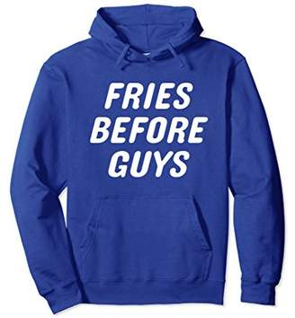 FRIES BEFORE GUYS Hoodie Pullover for Female Crews