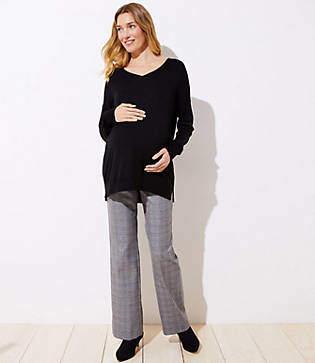 LOFT Maternity Trousers in Plaid