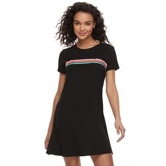 Love, Fire Love Fire Juniors' Rainbow-Stripe Swing Dress