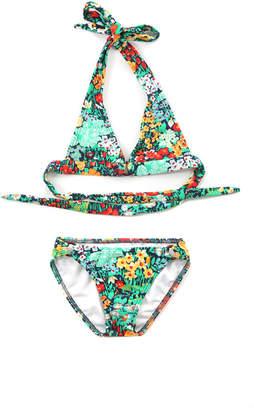 Shoshanna Kids Floral Ring Halter Bikini