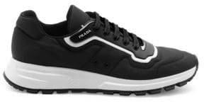 Prada Prax Gabardine Low-Rise Wedge Sneakers