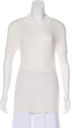 Jenni Kayne Short Sleeve Rib-Knit T-Shirt w/ Tags