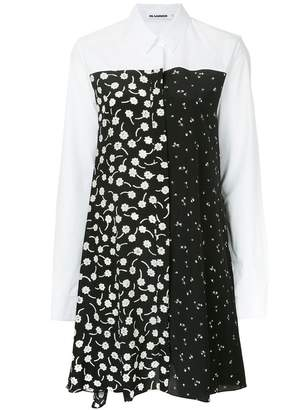 Jil Sander floral pattern shirt dress