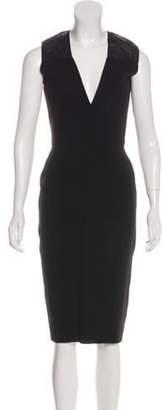 Victoria Beckham Crepe Sheath Dress Black Crepe Sheath Dress