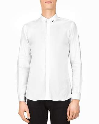 The Kooples Paper Popeline Slim Fit Button-Down Shirt