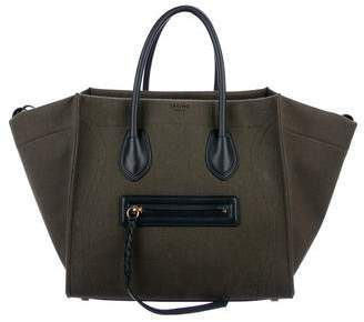 Celine Textile Medium Luggage Phantom