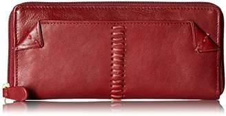 Hidesign Women's Stitch Leather Zip Around Wallet