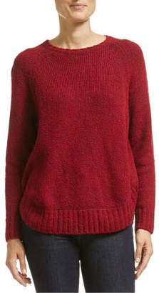 Jag NEW Liza Curved Hem Knit Red