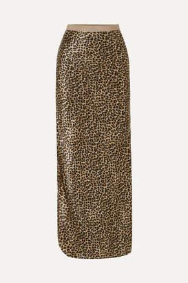 Nili Lotan Maya Leopard-print Silk-satin Maxi Skirt - Leopard print