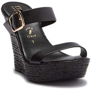 Italian Shoemakers Rosy Slip-On Wedge Heel Sandal