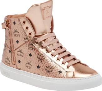 becdb2523204 MCM Women s High Top Turnlock Sneakers In Visetos