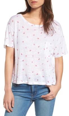 Women's Rails Billie Watermelon Print Linen Blend Tee $78 thestylecure.com