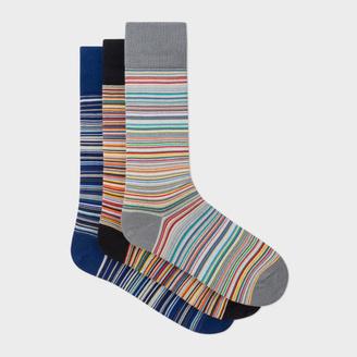 Men's Signature Stripe Socks Three Pack $75 thestylecure.com