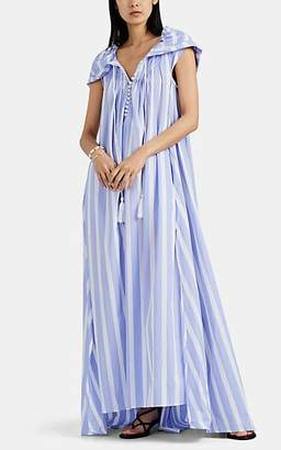 Thierry Colson Women's Eden Striped Cotton Poplin Caftan - Blue