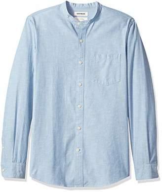 Goodthreads Men's Slim-Fit Long-Sleeve Band-Collar Chambray Shirt