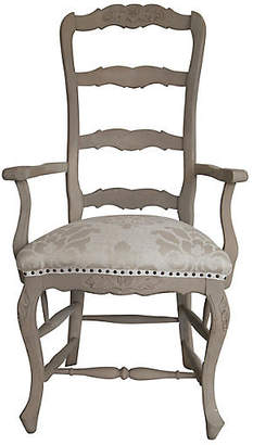 One Kings Lane Vintage Italian Hand-Carved Armchair - Fleur de Lex Antiques