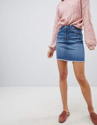 Pieces Denim Mini Skirt