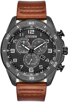 Citizen Drive Eco-Drive Stainless Steel Leather-Strap Watch