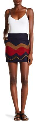 ONEBUYE Retro Patterned Mini Skirt