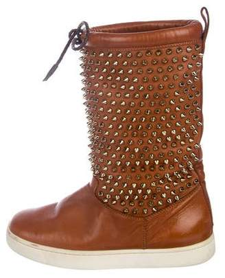 Christian Louboutin Spiked Leather Boots
