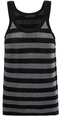Alexander Wang Metallic Striped Wool-Blend Tank