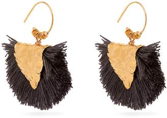 ELISE TSIKIS Agia gold-plated tassel earrings