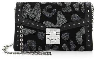 1274aad86 MCM Small Millie Leopard Crystal Leather Crossbody Bag