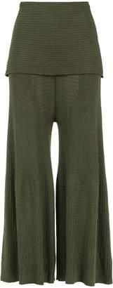 OSKLEN overlay knit trousers