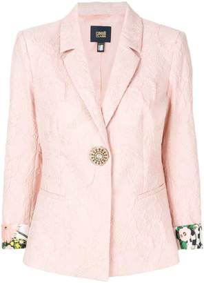 Class Roberto Cavalli rolled-up sleeve textured blazer