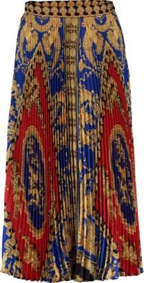 Versace Printed Plisse Midi Skirt