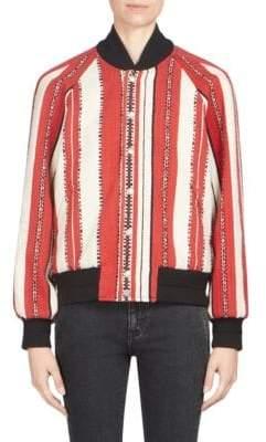 Wool-Blend Stripe Jacket