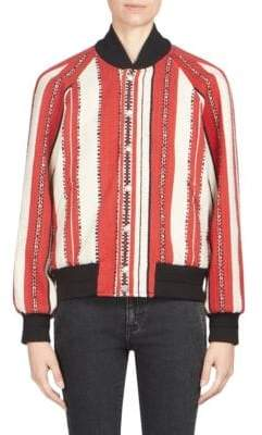 Saint Laurent Wool-Blend Stripe Jacket