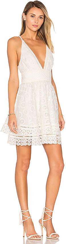 Lovers + Friends Lovers + Friends Moon Dance Dress in White 2