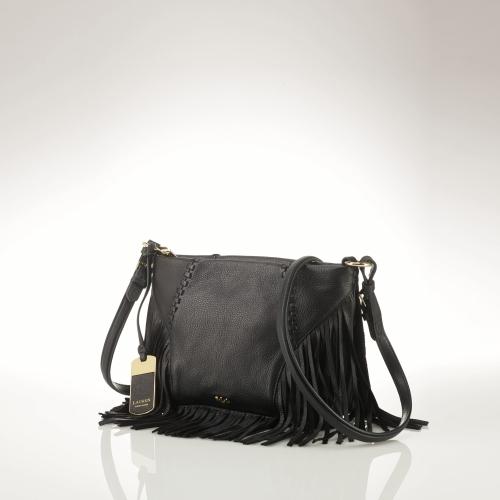 Ralph Lauren Leather Fringe Cross-Body