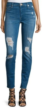 True Religion Halle Super-Skinny Distressed Jeans, Bowie Blue $219 thestylecure.com