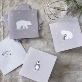 The White Company Snowy & Lumi Christmas Card Trio - Set of 12, Grey White, One Size