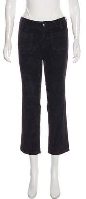 Drome Suede Mid-Rise Straight Pants