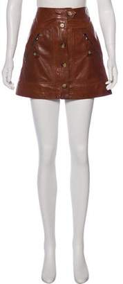 Veronica Beard Mini Leather Skirt w/ Tags