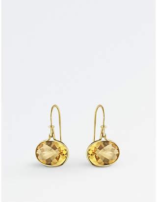 Georg Jensen Savannah 18ct gold and citrine drop earrings