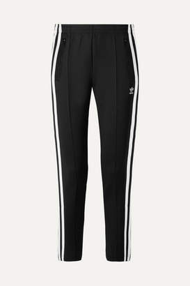 adidas Superstar Striped Stretch-jersey Track Pants - Black