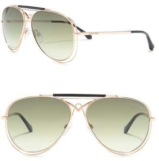 6342e8576 Roberto Cavalli Civitella 57mm Aviator Sunglasses