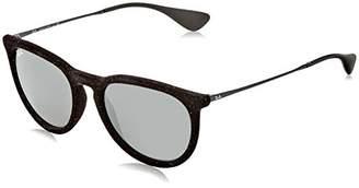 Ray-Ban Unisex RB4171 60756G Erika Sunglasses Blk Velvet/Grey 54mm