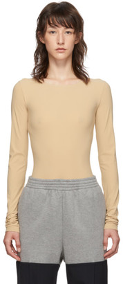 MM6 MAISON MARGIELA Beige Long Sleeve Bodysuit