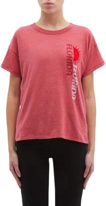 Rag & Bone 'Florida' sun velvet flock print T-shirt