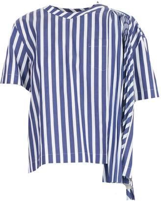 Sacai (サカイ) - Sacai Pleated Panel T-shirt