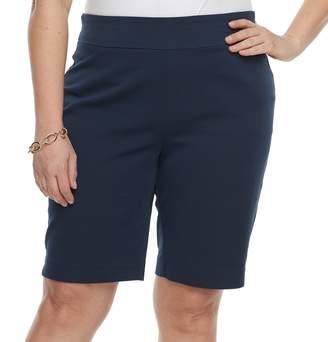 Croft & Barrow Plus Size Pull-On Bermuda Shorts